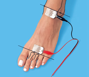 Photo electrodes placed on a foot